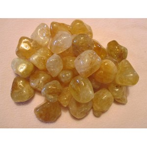 3 x Citrine Tumbled Chips
