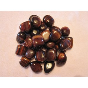Red Tigers Eye Tumble Stones (x3)