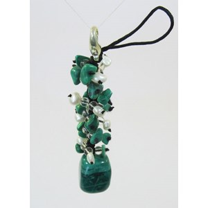 Chrysocola Howlite Catkin clip-on