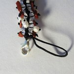 Red Goldstone Catkin clip-on