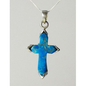 Turquoise Howlite Silver Cross