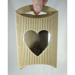 Ribbed Pouch with Heart
