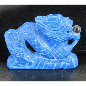 Blue Howlite Carved Dragon