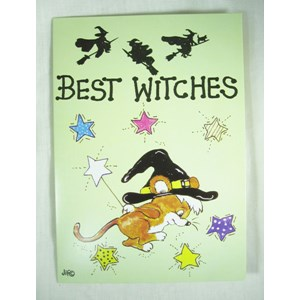 """Best Witches"" Greetings Card"