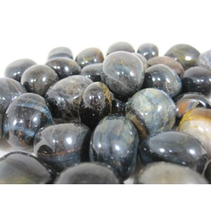 Blue Tigers Eye Tumble Stones (x 3)