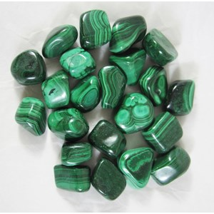 Malachite Tumble stones (x 3)  Largeish