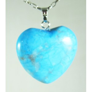 Turquoise Howlite Heart Pendant (small)