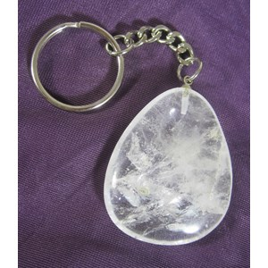 Clear Quartz Keyring