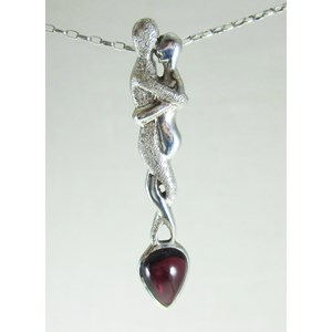 Garnet Lovers Pendant
