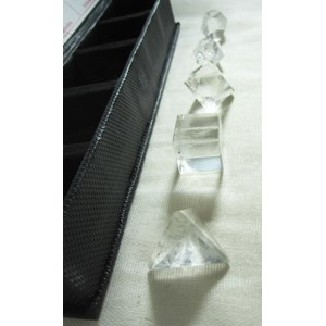 Quartz Platonic Solids Set