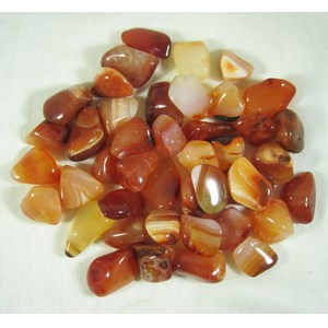 Orange Agate Tumble Stones - small (x3)