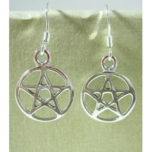 Silver Pentacle Earrings