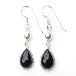 Onyx Teardrop Dangling Earrings