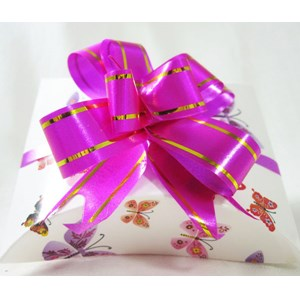 Pink & Gold Gift Bow (large)