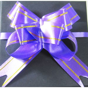 Purple & Gold Gift Bow
