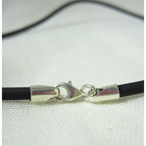 Rubber Necklace with Silver Catch