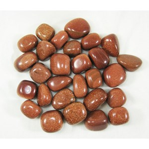 Red Goldstone Tumblestones (x3)