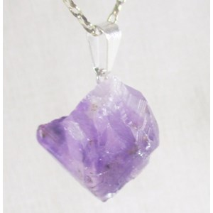 Rough Amethyst Point pendant