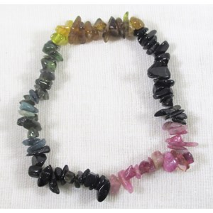 Watermelon Tourmaline Chip Bracelet