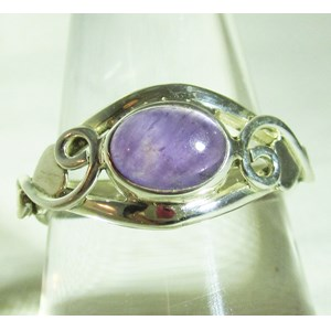 Amethyst Celtic Ring (Size P)