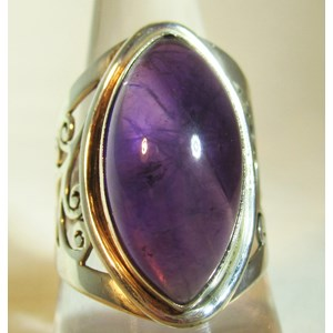 Ornate Amethyst Ring (Size Q)