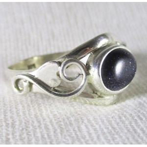 Blue Goldstone Celtic Ring (Size N)