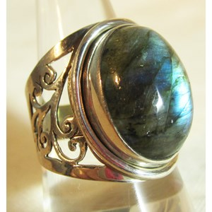 Ornate Labradorite Ring (Size Q)