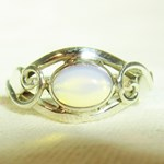 Opalite Celtic Ring (Size P)