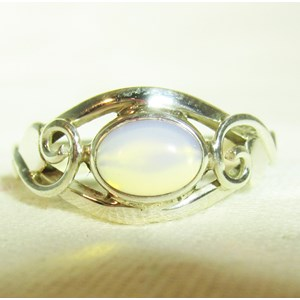 Opalite Celtic Ring (Size L)
