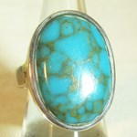 Chunky Turquoise Ring (Size L)