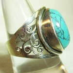 Ornate Turquoise Ring (Size 9)