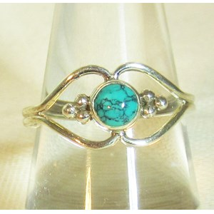 Pretty Turquoise Ring (Size Q)