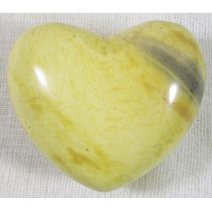 Peach Mookaite Heart