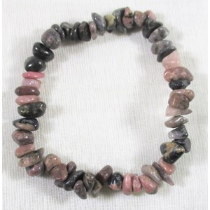 Rhodonite Chip Bracelet s/m