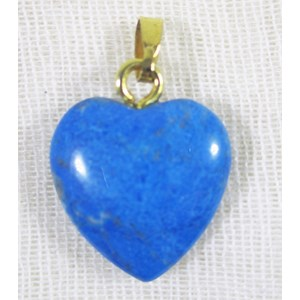 Turquoise Howlite Heart Decoration/Pendant (small)