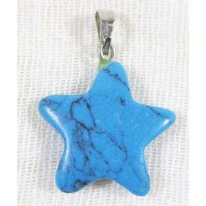 Turquoise Resin Stars (x5)