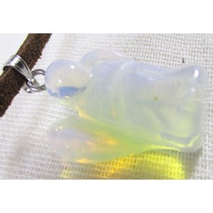 Opalite Angel Pendant (small)