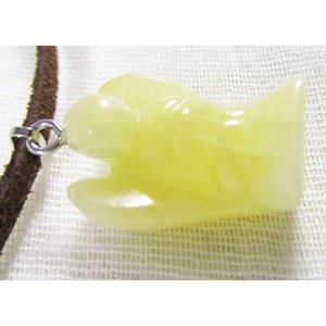 Yellow Calcite Angel Pendant (small)