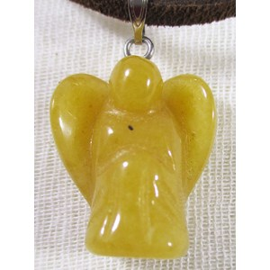 Peach Aventurine Angel Pendant (small)