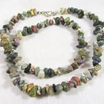 Mixed Jasper Chip Necklace