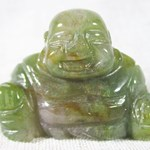 Earthy Green Jasper Buddha (small)