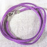 Purple Leather Style Neck Cord