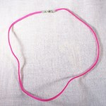 Pink Leather Style Neck Cord