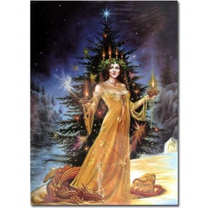Lady of the Lights Yule Card