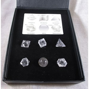 Clear Quartz Platonic Solids Set