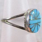 Sleeping Beauty Turquoise Silver Ring (size N)