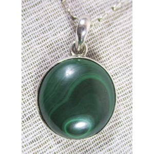 Malachite Circular Pendant (small)