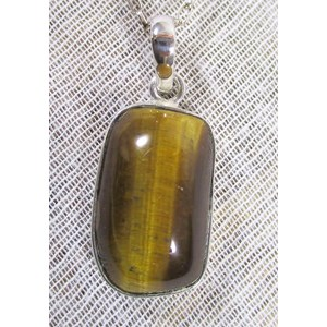 Tigers Eye Rectangular Pendant