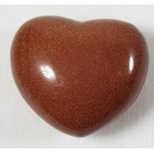 Red Gold Stone Heart
