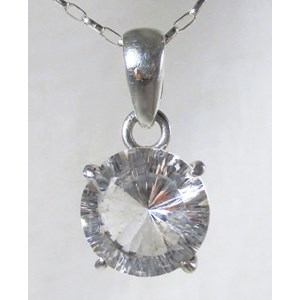Quartz Faceted Circular Pendant (smallish)